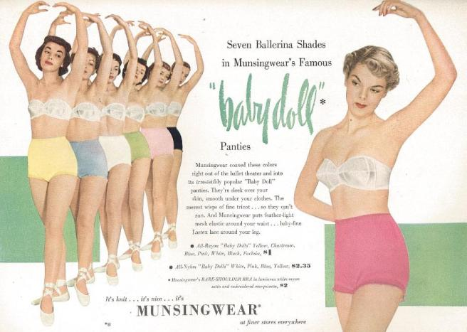 Vintage Lingerie Ad - Women's Panties