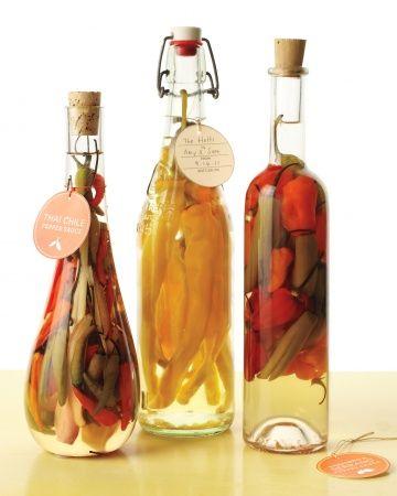 infused vinegar hostess gift